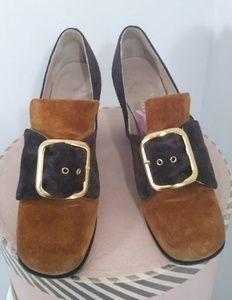 Vintage Bandolinos 60s 70s hippie mod buckle shoes